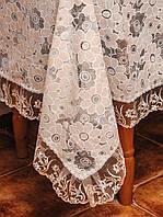 Ажурная цветочная скатерть