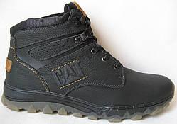 Зимние мужские ботинки в стиле CAT Caterpillar обувь натуральная кожа Кат мех