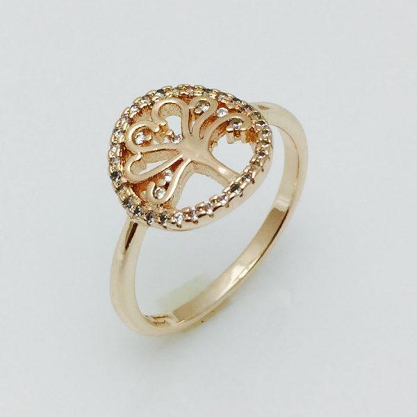 Женское кольцо Древо, размер 17, 18 ювелирная бижутерия