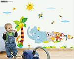 Интерьерная наклейка на стену Веселый Зоопарк (ay639), фото 5