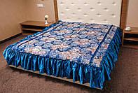 Покрывало (180*210) с атласными рюшами на кровать