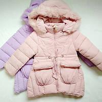 Куртка для девочки 3-8 лет с капюшоном  зима, фото 1
