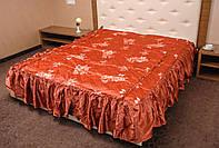 Шикарное атласное покрывало с оборками для спальной комнаты
