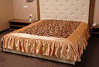 Стеганое покрывало с оборками на кровать для спальни