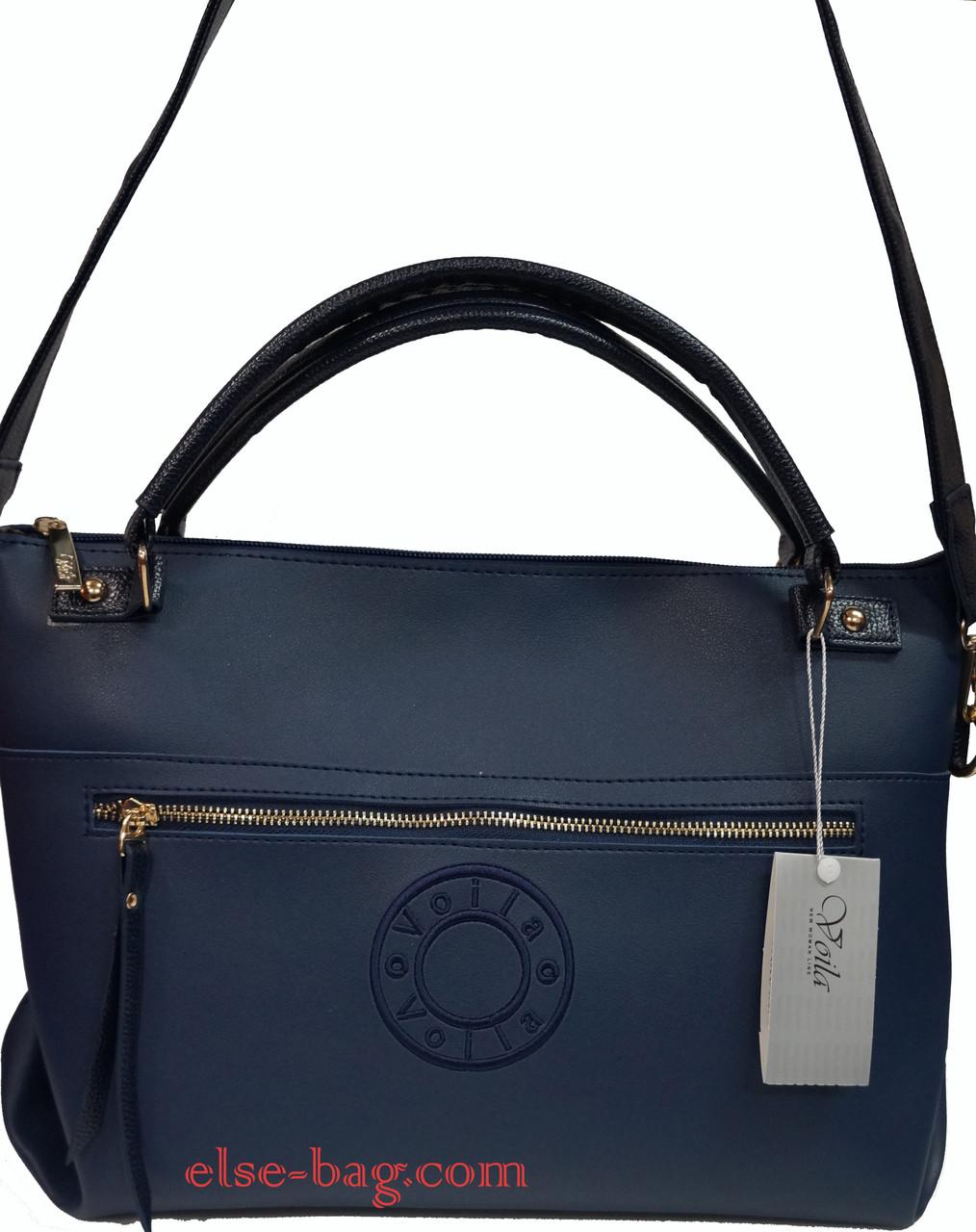 15fcf5d077a4 Женская сумка из экокожи с широким ремнем -