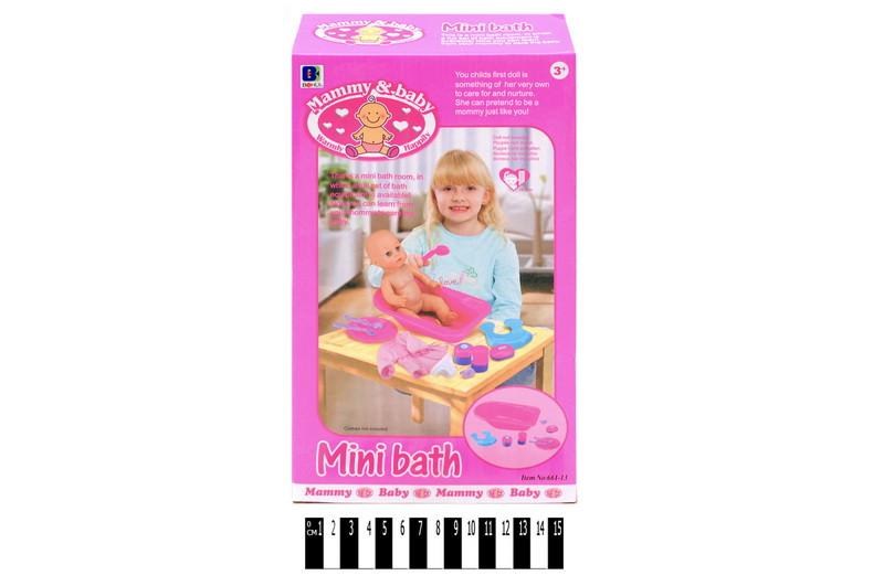 Ванночка для куклы с аксессуарами 661-13