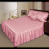 """Покрывало """"Романс"""" на двуспальную кровать с подушкой-сердечко"""