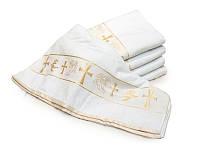 Крыжма. Крестильное полотенце (Турция) цвет золото.