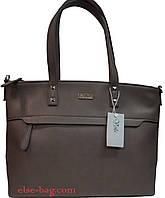 Женская сумка  с карманом спереди КОФЕ С МОЛОКОМ В ДЫМКЕ, фото 1
