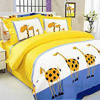 """Семейный комплект постельного белья """"Жирафы"""", фото 1"""