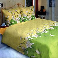 """Полуторное постельное белье """"Лилия зеленая"""", фото 1"""