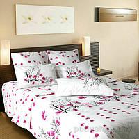 """Постельное белье евро """"Сакура"""" на двуспальную кровать, фото 1"""