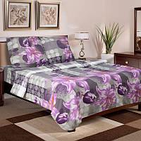 """Постельное белье """"Скарлет"""" на двуспальную кровать евро размера"""