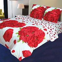"""Постельное белье """"Розали"""" на двуспальную кровать евро размера"""