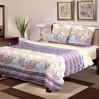 """Постельное белье """"Лилиан"""" на двуспальную кровать евро размера"""
