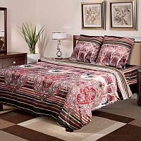"""Постельное белье """"Рокко"""" на двуспальную кровать евро размера"""