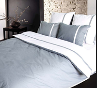 """Постельное белье """"Дуэт серый"""" на двуспальную кровать евро размера"""