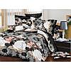 """Постельное белье евро размера """"Бонжур"""" 3D на двуспальную кровать"""