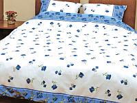 """Постельное белье евро размера """"Роза синяя распущенная"""" Standart на двуспальную кровать"""