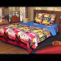"""Детское постельное белье """"Тачки"""" на полуторную кровать"""
