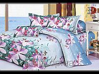 """Постельное белье """"Дикая орхидея"""" 3D на двуспальную кровать"""