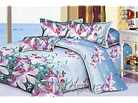 """Постельное белье """"Дикая орхидея"""" 3D на двуспальную кровать евро размера"""