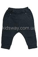 Штаны из трикотажа для мальчика: джинс (74, 80, 86 р-ры)