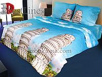 """Постельное белье """"Италия"""" 3D на двуспальную кровать"""