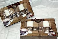 """Кухонный набор полотенец """" Кофе и молоко"""" 6шт. размер 40*60"""