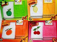 """Полотенца для кухни в наборе """"Веселые фрукты"""" мандарин  2шт. размер 40*60"""