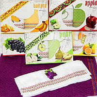 """Набор кухонных полотенец """"Райские фрукты"""" виноград 2шт. размер 40*60"""