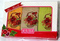 Набор кухонных полотенец Цветы 6 шт. размер 30х50, фото 1
