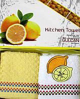 """Набор кухонных полотенец """"Райские фрукты"""" лимон 2шт. размер 40*60"""