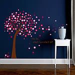 Интерьерная наклейка на стену Дерево с цветами (AY9026AB), фото 4