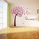 Интерьерная наклейка на стену Дерево с цветами (AY9026AB), фото 5