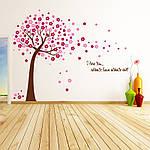 Интерьерная наклейка на стену Дерево с цветами (AY9026AB), фото 6