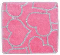 Квадратный мягкий коврик для ванной 60 см*55 см