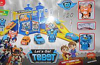 Паркинг Тоботы +2 трансформера и машинка