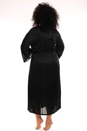 Молодежный женский пеньюар черный, фото 2