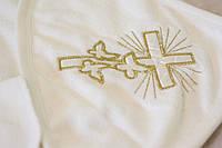 Полотенце крыжма на крестины уголком 95*95см