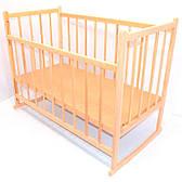 Детская кроватка деревянная, качалка