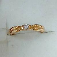Кольцо с бриллиантом вес 1.34 грамм