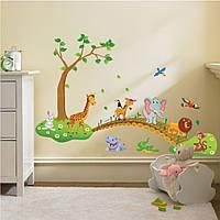 Интерьерная наклейка на стену Большие Джунгли (AY9245)