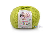 Турецкая пряжа Alize Baby Wool полушерсть фисташка №612