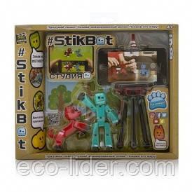 Игровой набор для анимационного творчества STIKBOT S2 PETS – СТУДИЯ (2 экскл. фигурки, штатив)