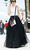 Пышная юбка фатин на подкладке 42-46р цвет черный.бордо