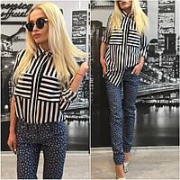 Женские модные принтованные джинсы r-31SH118