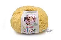 Турецкая пряжа Alize Baby Wool полушерсть лимонный №187
