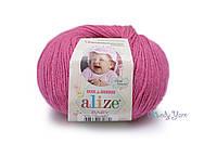 Турецкая пряжа Alize Baby Wool полушерсть цикламен №489