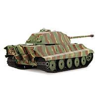 Танк HENG LONG German King Tiger р/у аккум 3888-1, 1:16, дым,звук,вращ.башня,пневм.орудие
